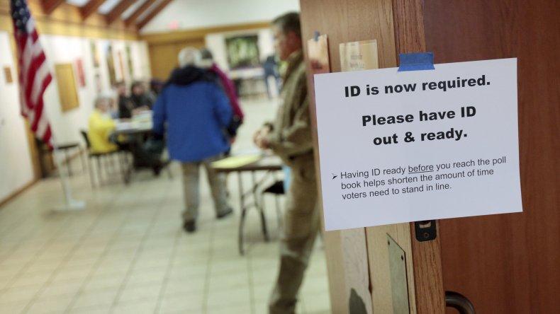 Foto tomada el 16 de febrero del 2020 de un centro de votación en Madison