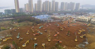 China construye hospital especial para personas infectadas