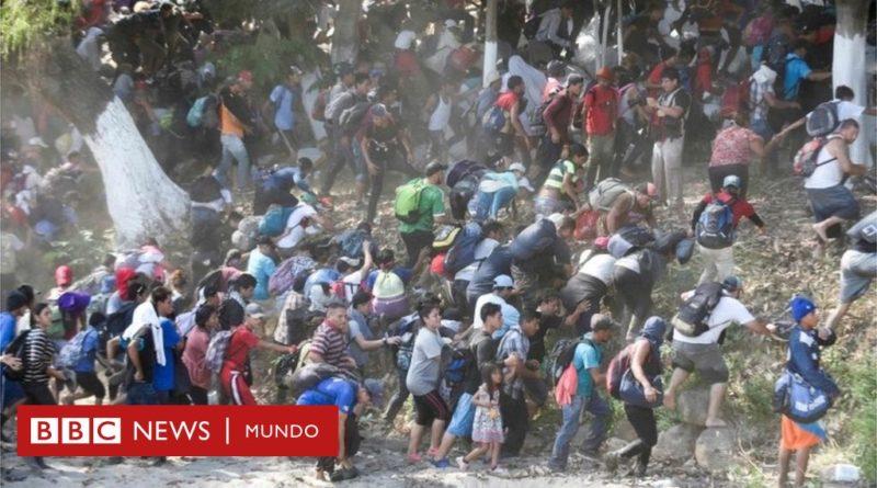 Caravana de migrantes: cientos de centroamericanos cruzan el río Suchiate hacia México en su intento de llegar a EE.UU.