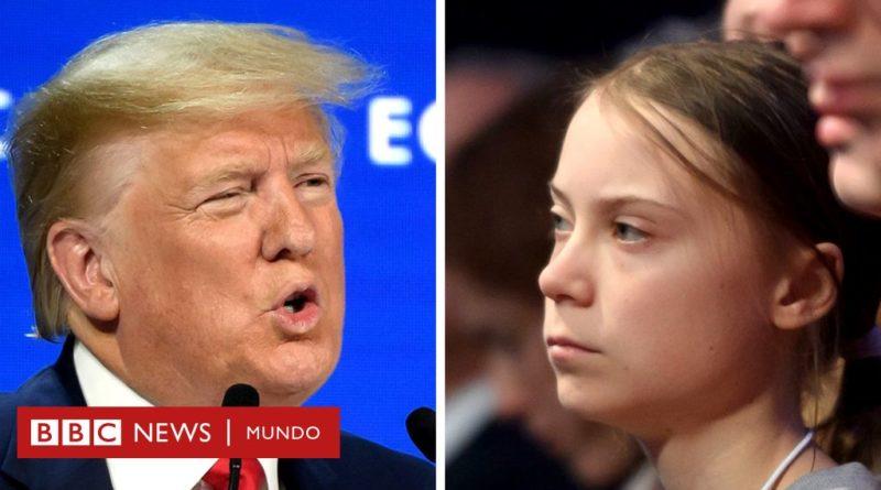 """Davos: Trump carga contra los """"profetas de la fatalidad"""" frente a la atenta mirada de Greta Thunberg"""