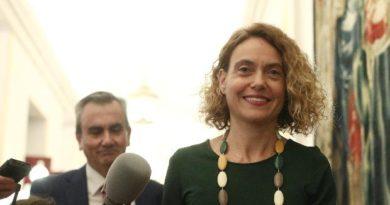 La presidenta del Congreso, Meritxell Batet, a su llegada a la reunión de la Mesa del Congreso de los Diputado