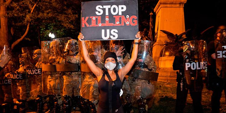 Decretan toque de queda en 25 ciudades de EEUU por protestas