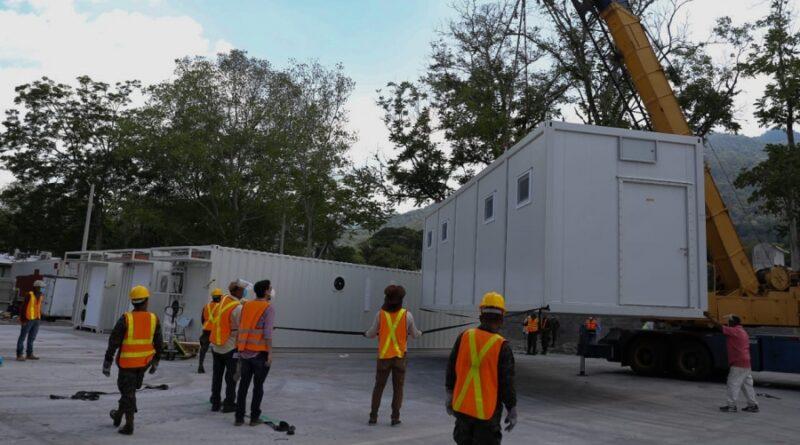 Próxima semana concluyen instalación del hospital móvil de SPS