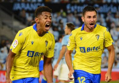 Choco Lozano con gol ayuda al Cádiz a ganarle al Celta